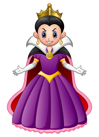 Vector illustration of Cartoon evil queen 일러스트