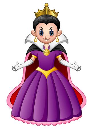 Vektor-Illustration von Cartoon böse Königin Vektorgrafik