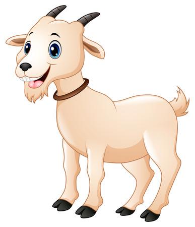 Ilustración vectorial de Cute cabra dibujos animados