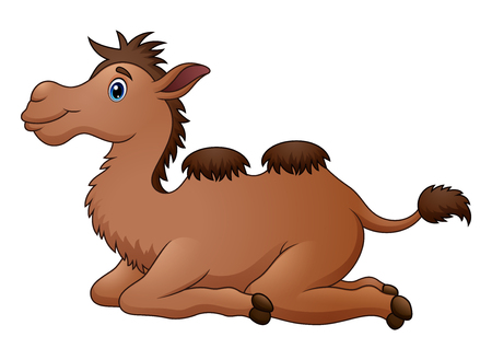 Cute camel cartoon sitting Illustration