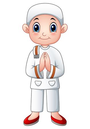 religious clothing: Boy muslim cartoon
