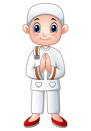 Boy muslim cartoon