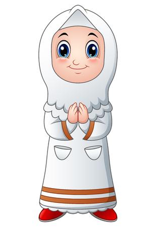 Moslimbeeldverhaal van het meisje Stockfoto