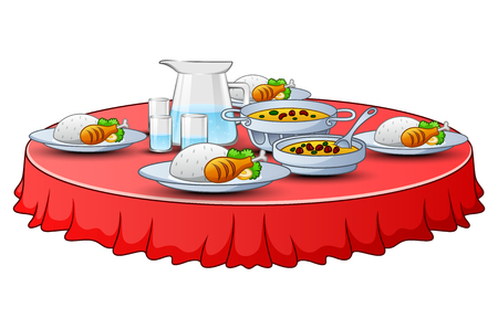 Delicious menu for iftar party are on the table