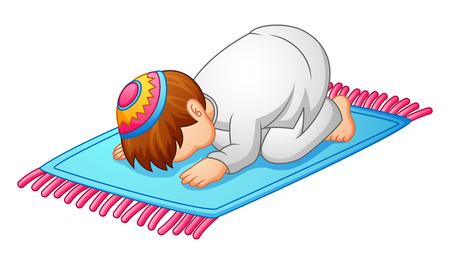 Kleine kindprestatie voor het bidden van moslim