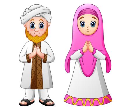 Muslim adult cartoon greeting