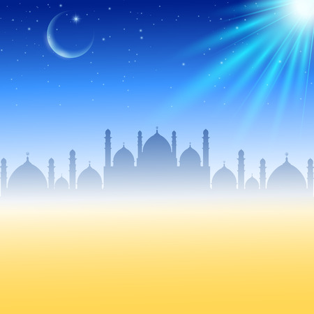 Vector illustration of Abstract background for eid mubarak