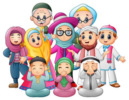 幸せな家族を祝うイードのムバラク