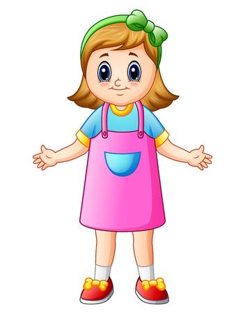 Cute girl cartoon Stock Photo