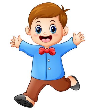 Vector illustration of Happy boy cartoon Ilustrace