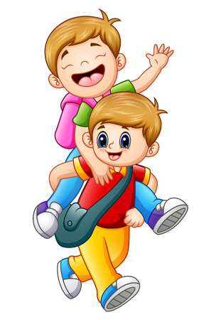 219 Piggyback Ride Stock Vector Illustration And Royalty