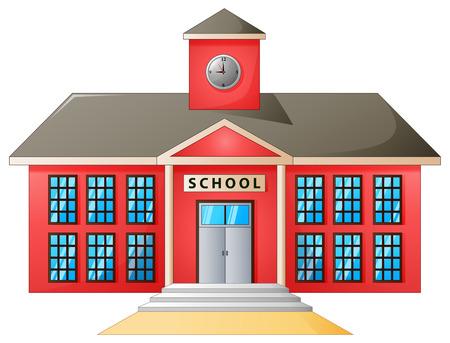 Vector illustration of High school modern building 일러스트