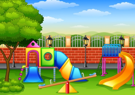 Vector illustration of Playground in the park