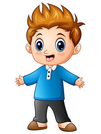 Cute little boy cartoon Stock Photo