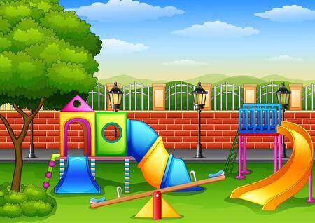 Playground in the park 版權商用圖片