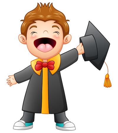 Illustration vectorielle de la bande dessinée Happy Graduation Boy Banque d'images - 82746882