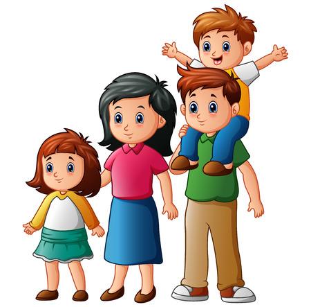 Happy family cartoon Stock Photo