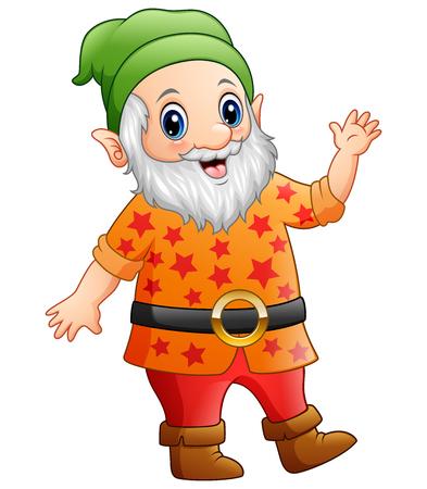 Cartoon happy dwarf
