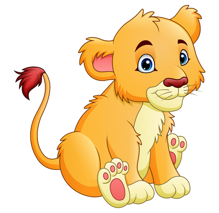 cheetah cub: A Vector illustration of Cartoon lioness isolated on white background illustration. Illustration