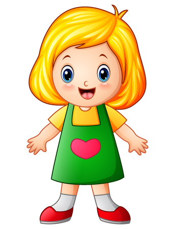 Cute little girl cartoon Stock Photo - 83761031