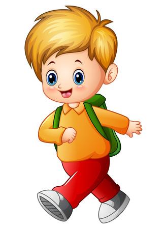 Cute schoolboy cartoon Stock Photo - 83761032