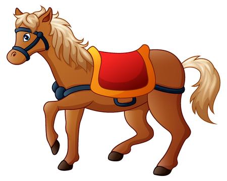 サドルと漫画馬