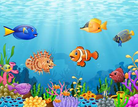 Cartoon fish under the sea Stok Fotoğraf - 85443503