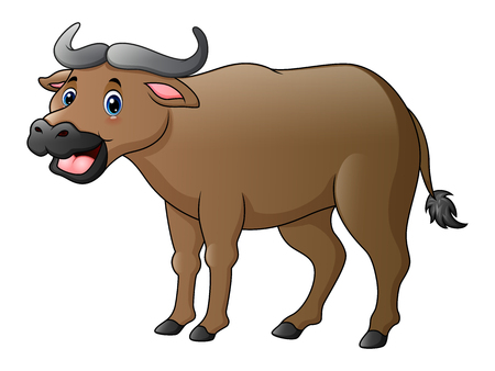 Cute buffalo cartoon Stock Photo