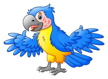 macaw: Cute Parrot cartoon