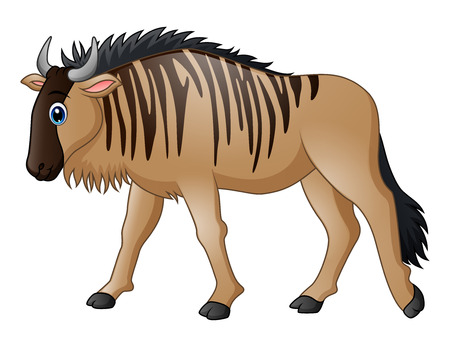 Cartoon wildebeest mascot