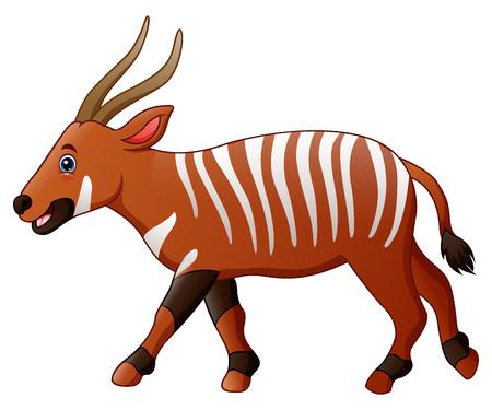 Vector illustration of Cartoon bongo antelope Illustration