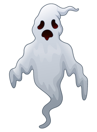 Vector illustration of Spooky halloween ghost.