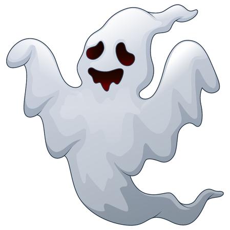 Vector illustration of Spooky halloween ghost