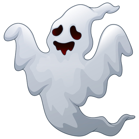 Vector illustration of Spooky halloween ghost
