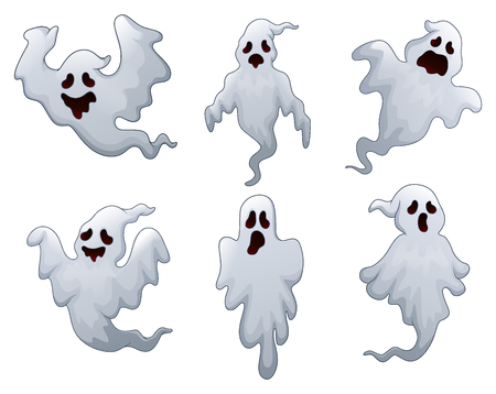 Set of Halloween ghosts