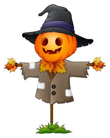thanksgiving day symbol: Illustrazione di Cartoon spaventapasseri Vettoriali