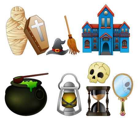 poison sign: Vector illustration of Halloween symbols collection