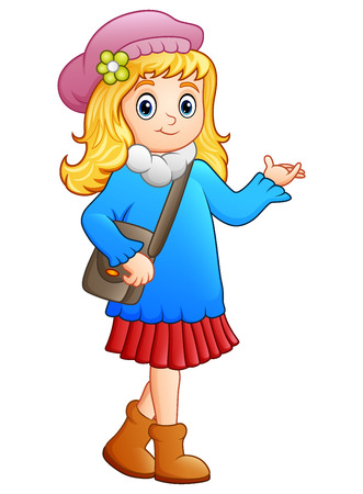 skirts: Cute school girl cartoon