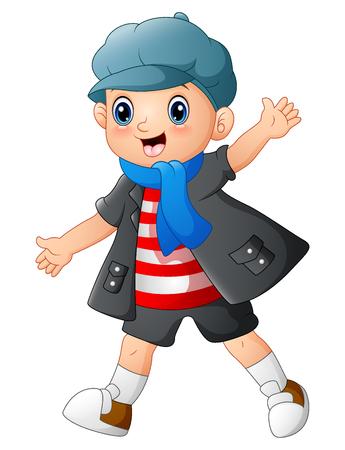 humor: Cute boy cartoon posing