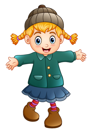 Cute little girl wearing hat