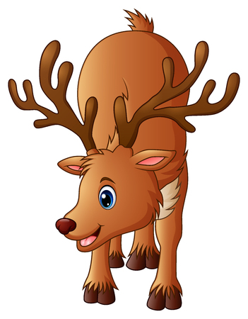 Illustration of Cute reindeer cartoon