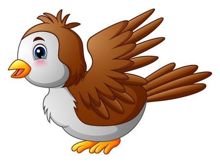 Cute cartoon robin bird