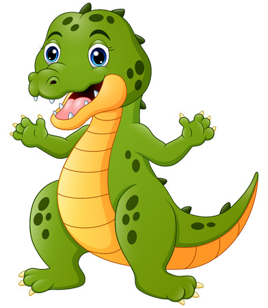 Vector illustration of Happy crocodile cartoon