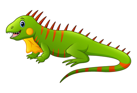 Illustration of a cute lizard.