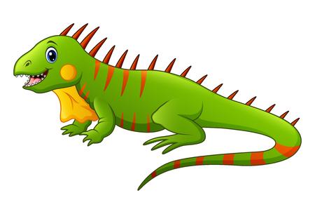 Illustration of a cute lizard.