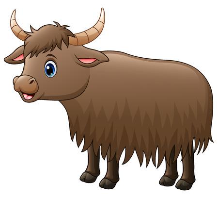 Cute yak cartoon Stock Photo