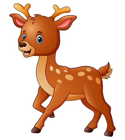 Cute deer cartoon Stock Photo