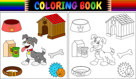 Coloring book dog