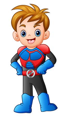 Cartoon superhero boy posing Reklamní fotografie
