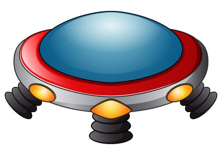 UFO spaceship icon on a white background